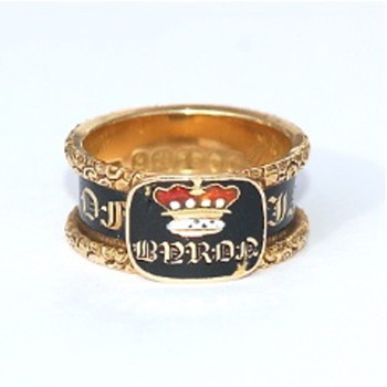 Lord Byron Memorial Mourning Ring