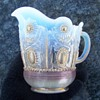 Northwood Jewel and Flower Opalescent Creamer Early 1900s