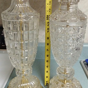 Glass table lamps from the old grocery store. - Lamps