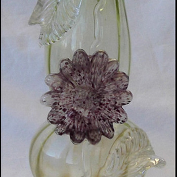 Bohemian Glass flower Vase Harrach????  - Art Glass