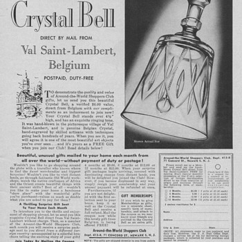 Val Saint-Lambert Crystal Bell Advertisement - Advertising