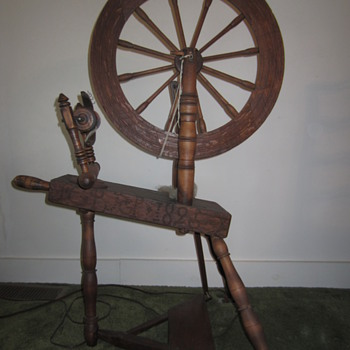 Early Spinning Wheel - Sewing