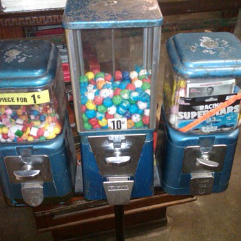 Vintage Oak Gumball machines - Coin Operated