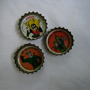 Vintage bottle caps. - Advertising