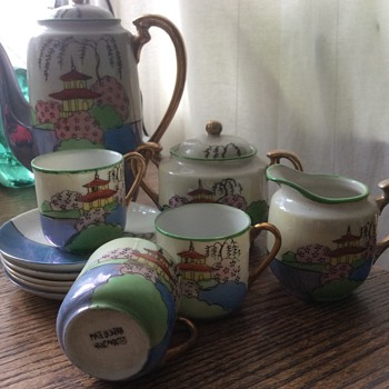 Coffee set japanese help in idetifying please handpainted