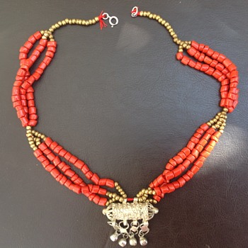 Tribal Yemeni Silver Coral Necklace? - Fine Jewelry
