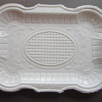 Beautiful Milk Glass Platter
