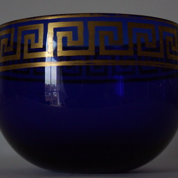 Isaac Jacobs of Bristol, Blue Gilt Finger Bowl