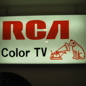 Lighted RCA Color TV sign