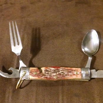 Folding Knife, Spoon, Fork and Bottle Opener