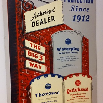 embossed THORO masonry foundation sealers sign - Signs