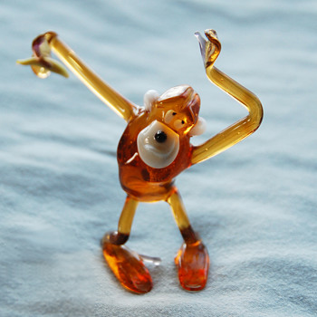 Happy New (Lunar) Year to CW! Art Glass Monkey Figurine - Art Glass