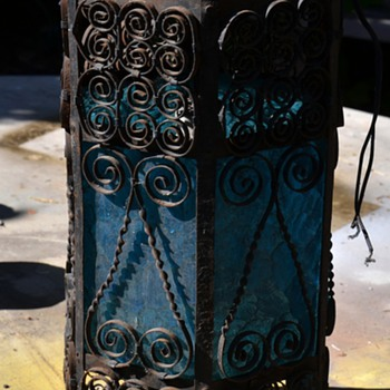 Another Wrought Iron Hanging Lamp - Lamps