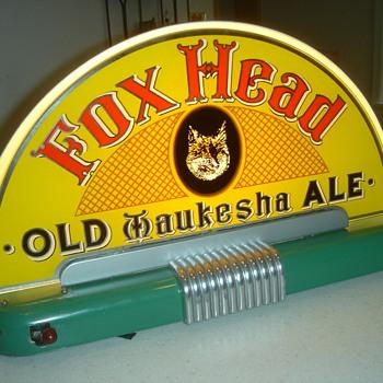 Foxhead Ale halo light-Waukesha,WI - Breweriana