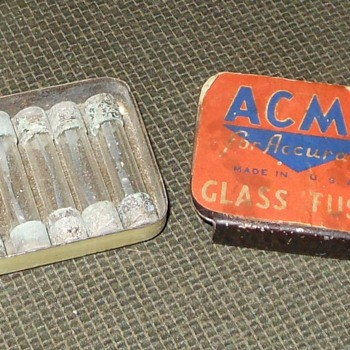 Vintage Acme Fuse Tin
