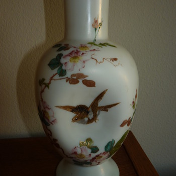 Riedel cream ware vase 1880's.  - Art Glass