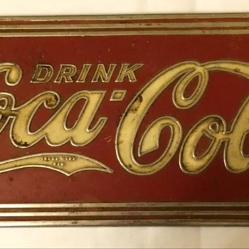 1930's Coca Cola soda fountain nameplate