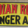 INDIAN ROCK GINGER ALE EMBOSSED SIGN,RICHMOND,VA.