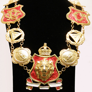 Vintage Accessocraft N.Y.C. Massive Lion Shield Necklace - Costume Jewelry
