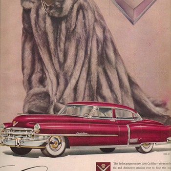 1950 Cadillac 4 Advertisement