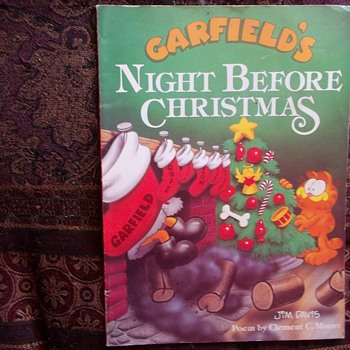 GARFIELD'S NIGHT BEFORE CHRISTMAS, BOOK IN FULL COLOR,ART JIM DAVIS 1988