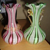 Two very pretty small glass vases (with twist detail)