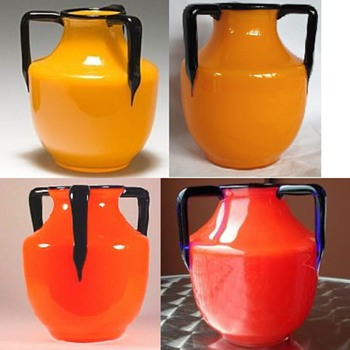 Loetz 3-Handle shape #8 - Bullet  - Art Glass