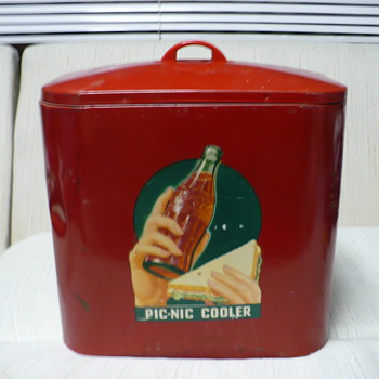 Coca-Cola Pic-Nic Cooler. ?1940? - Coca-Cola