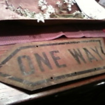Vintage One Way Sign