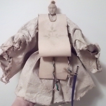 Japanese Samurai Doll made of paper?