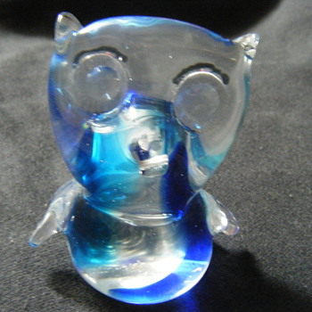 MURANO BLUE OWL 3.14 INCHES