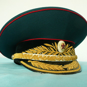 Soviet Parade Visor Cap of a Tank Troops General