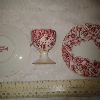 mystery egg cup and plates