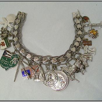 My 1970's Sterling Silver CHARM BRACELET - Fine Jewelry