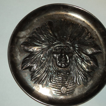 Indian Sterling Tray Unger Brothers?