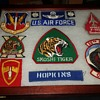 grandfathers airforce patch collection, original photo