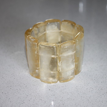 Lucite Stretch Bracelet  - Costume Jewelry