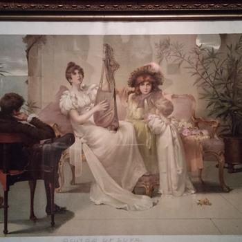 large victorian print