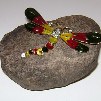 Dragonfly and Butterfly Brooches - Costume Jewelry