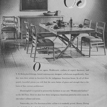 1950 Widdicomb Furniture Advertisements - Advertising