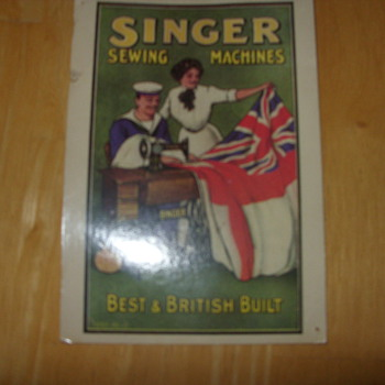 1905 singer sewing machine trading card - Sewing