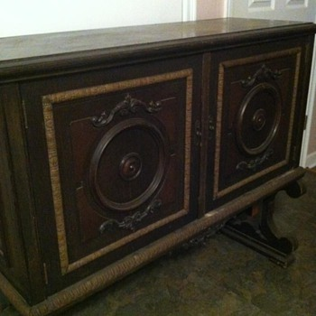 antique music sheet cabinet - Furniture