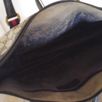 Vintage Gucci Tote Bag My Restoration Work -Interior - Bags