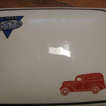 Gordon&#039;s Ceramic Covered Dish (Made by Balfour Ceramic) - Glassware