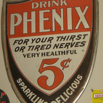 Tin Pheonix Sign-love the shape and colors - Advertising