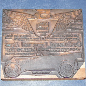 Printers plate Oakland Auto Advertisement - Office