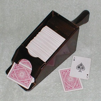 Playing Cards Wood Dealers Shoe