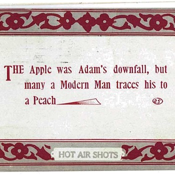 The Apple Was Adam's Downfall - Postcards