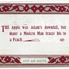 The Apple Was Adam's Downfall