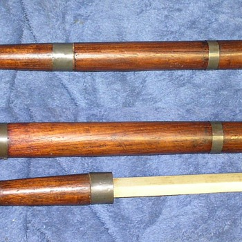 OLD HAND CARVED POLICE NIGHT STICK BATON HIDDEN SWORD  - Accessories